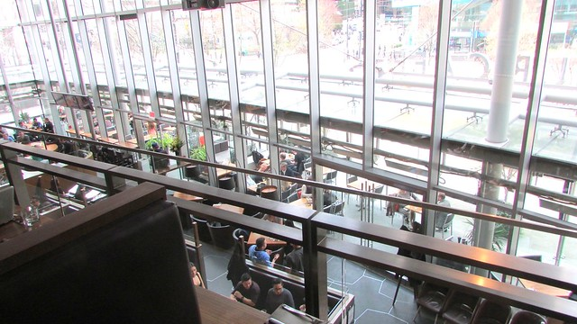 Lunch at the Cactus Club Cafe on Burrard, Vancouver