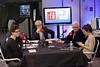 Sur le plateau de l'émission Une semaine d'actualité, animée Pierre-Edouard Deldique avec l'EPJT