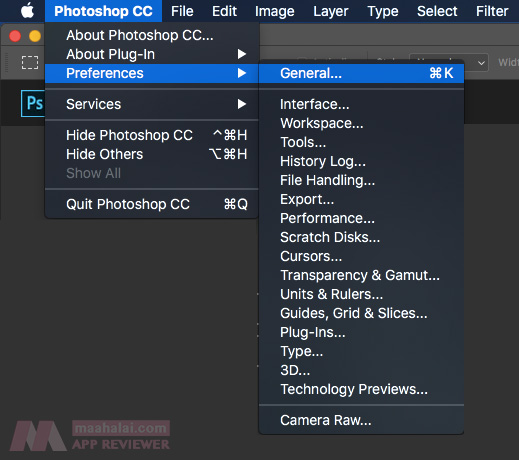 Photoshop reset all setting