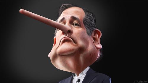Lyin' Ted Cruz - Caricature