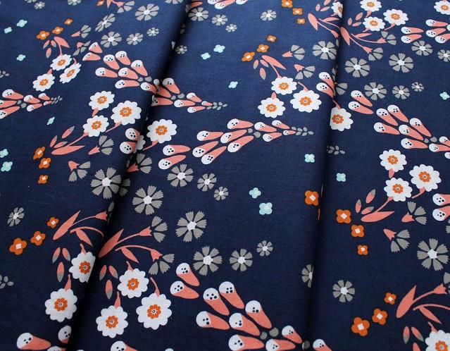 Cloud9 Fabrics Foxglove 150312 Foxgloves Navy