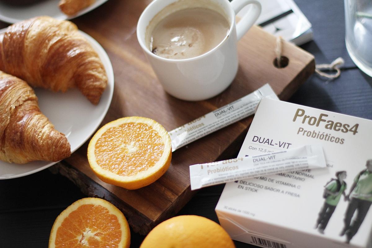 desayuno saludable y completo vitaminico de probioticos profaes4 dual vit