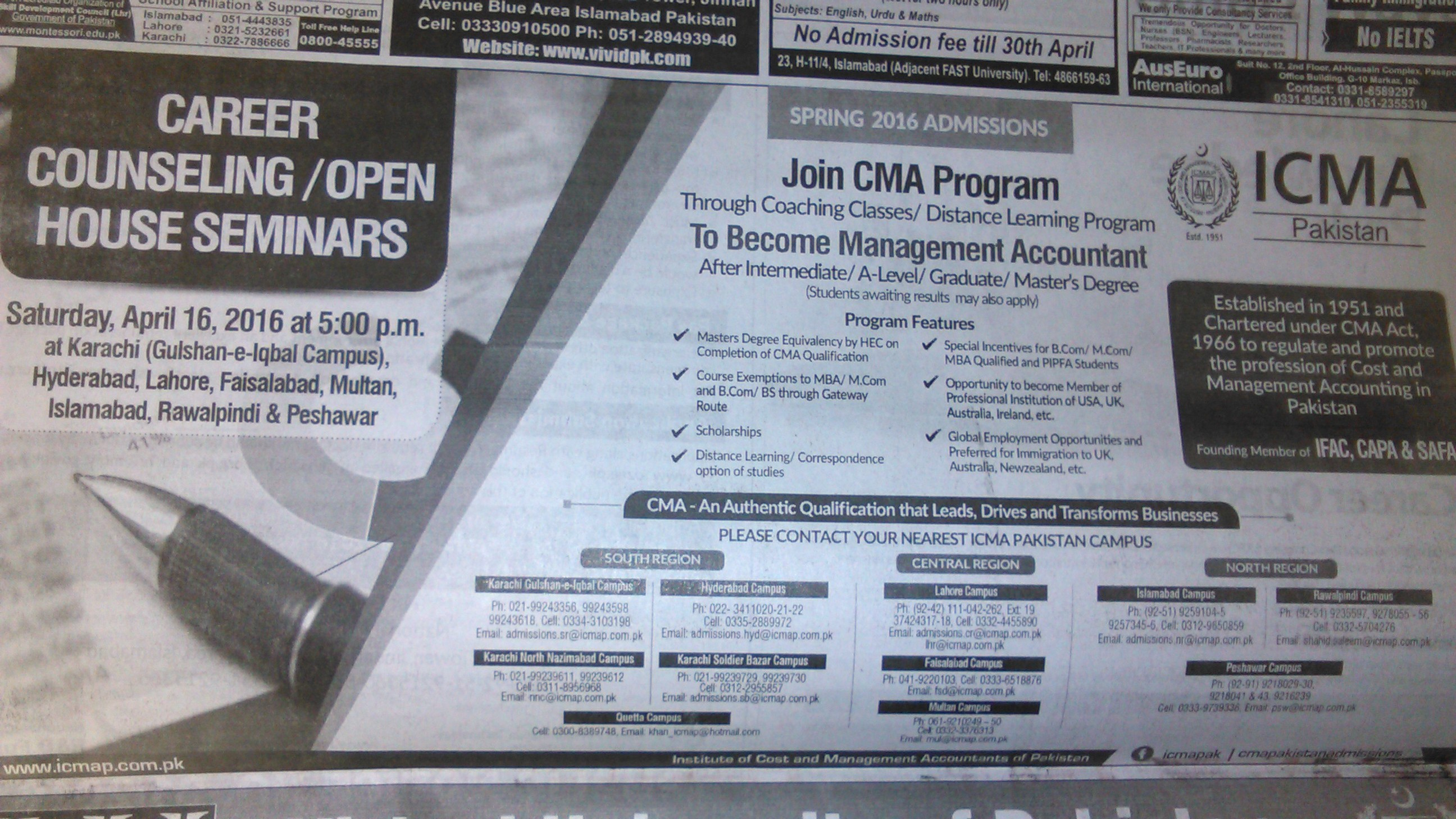 ICMA Open House Become Management Accountant