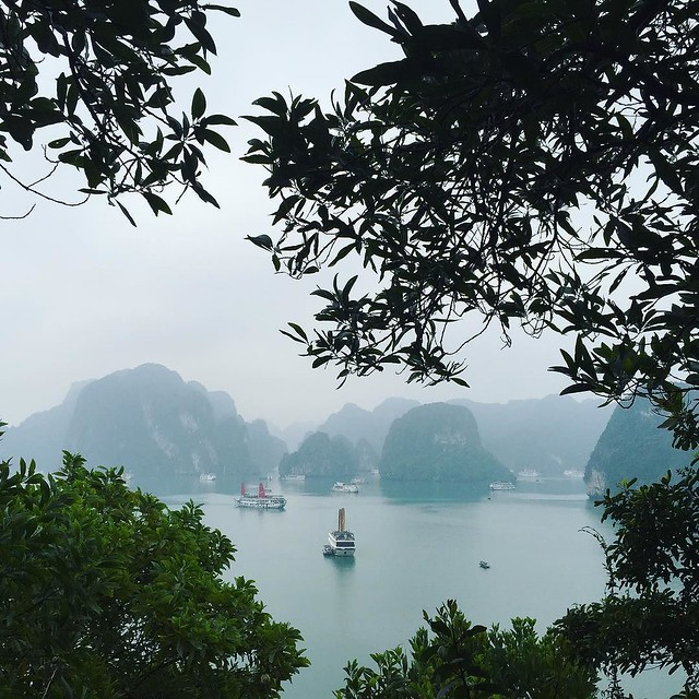 Ha Long through the haze.