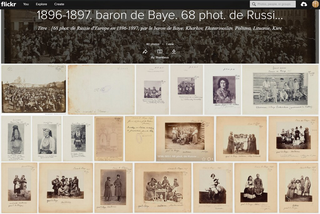 1896-1897. Baron de Baye. 68 phot. de Russie d'Europe