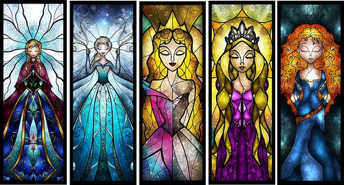 Neni Designs Stained Glass Princesses