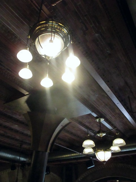 light fixtures at the brasserie