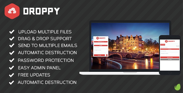 Droppy v1.3.4 - Online file sharing