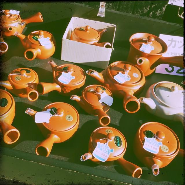 Japanese Teapots (Small Kyusu)