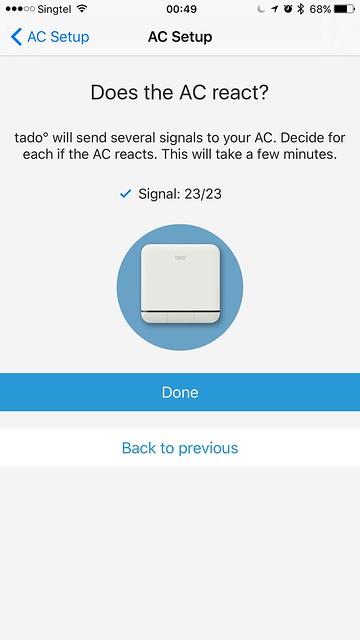 tado iOS App - AC Setup - Command Signals Test #23