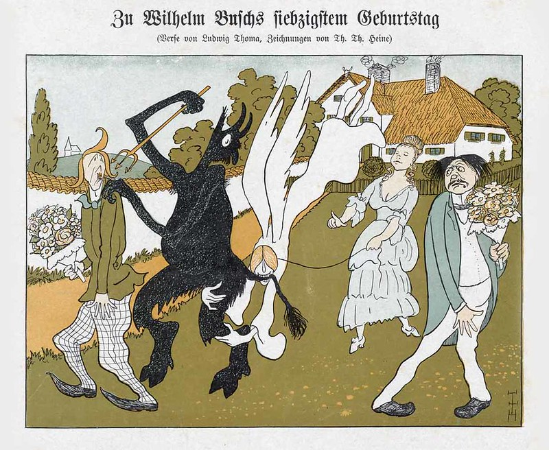 Thomas Theodor Heine - To Seventieth Birthday Of Wilhelm Busch, 1903