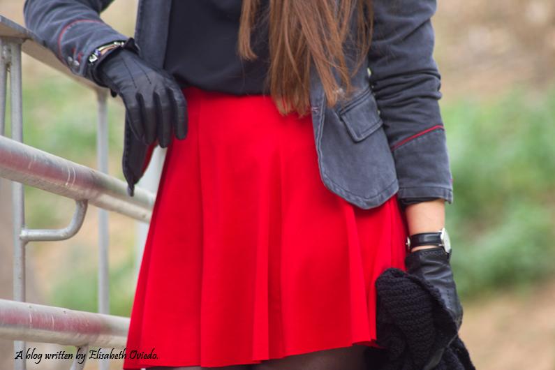 falda roja chaqueta militar mango zara look 2016 HEELSANDROSES (4)
