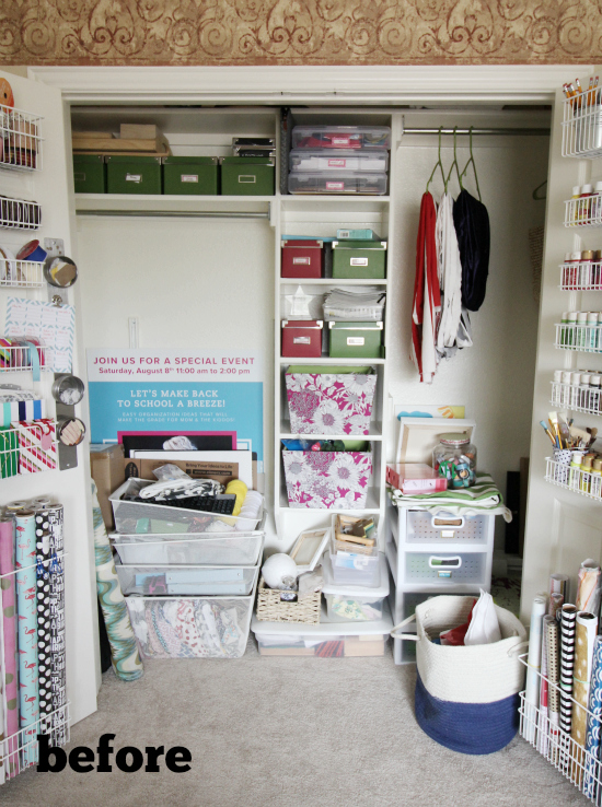 Hi Sugarplum | Craft Closet Makeover