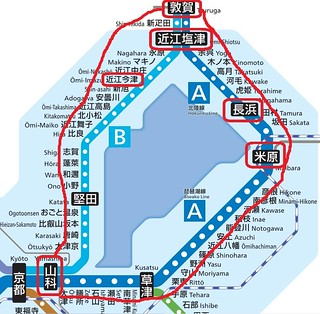 青春18敦賀、路線図