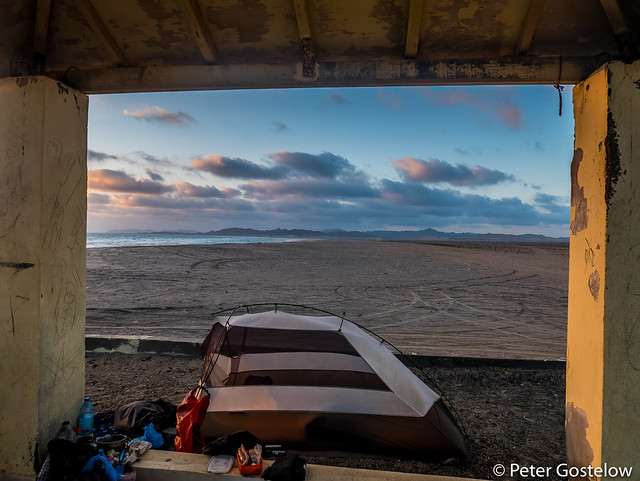 Beach camp on Masirah Island