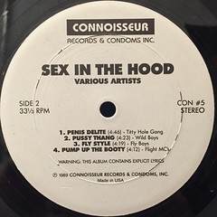 V.A.:SEX INTHE HOUSE:SEX INTH HOOD(LABEL SIDE-B)