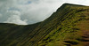 Last push to the top of Corn Du,The Brecon Beacons,South Wales,UK.
