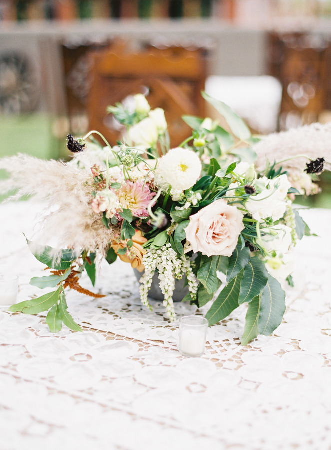 Pretty wedding centerpieces ,Outdoor wedding reception | Rustic Ranch Wedding