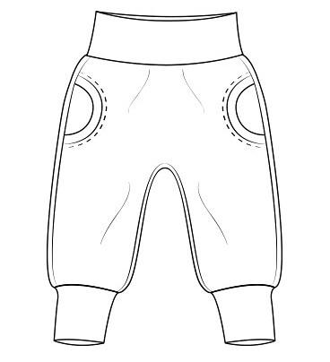 Faux Pocket Pants