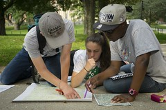 NRCA students learn to use GIS--and a compass.