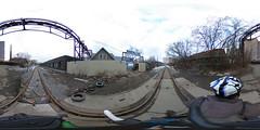 Cherkizovo - Electrozavod railway in 360 panorama