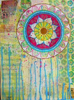 Week 8 - Mandala over Collage 1