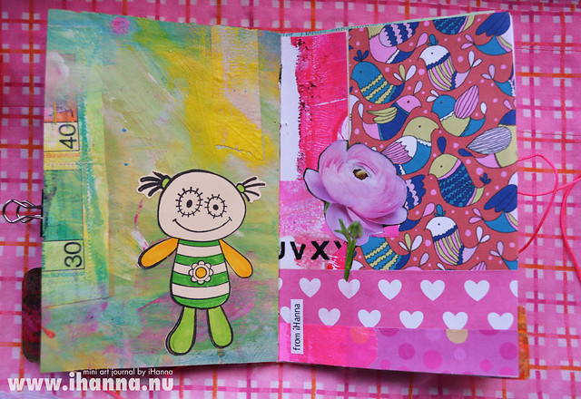 Mini Art Journal Stamp and Collage - created by iHanna