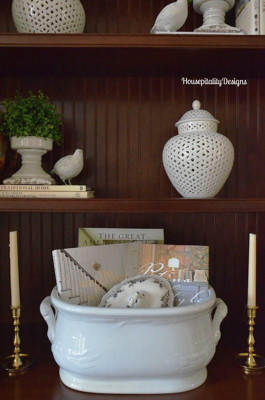 Ironstone Footbath/Great Room Bookcase - Housepitality Designs