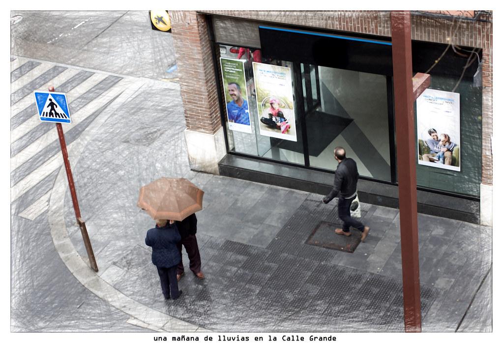 una mañana de lluvias en la Calle Grande