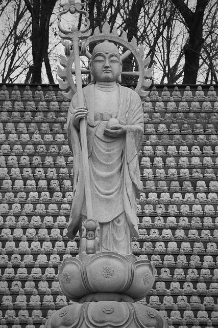 Standing Buddha and Khakkhara