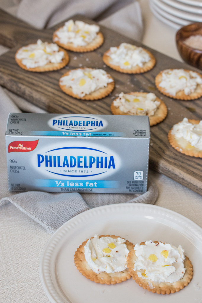 Quick & Easy Spicy Feta Philadelphia Cream Cheese Cracker Spread