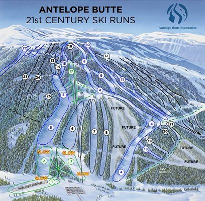 Antelope Butte trail map