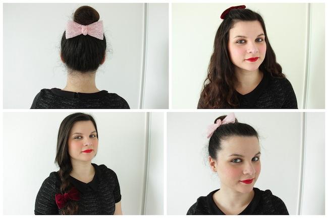 4 coiffures simples avec une barrette à noeud