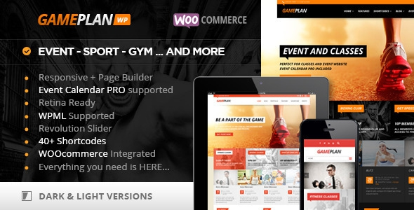 ThemeForest Gameplan v1.5.10 - Event and Gym Fitness Wordpress Theme