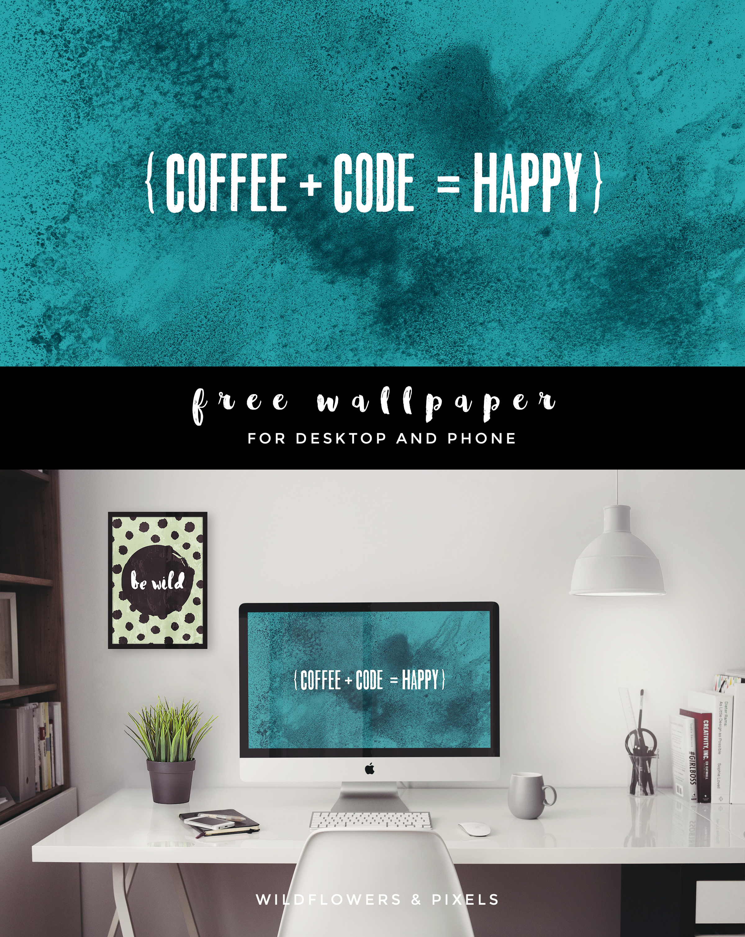 Coffee Code Happy Free Wallpaper