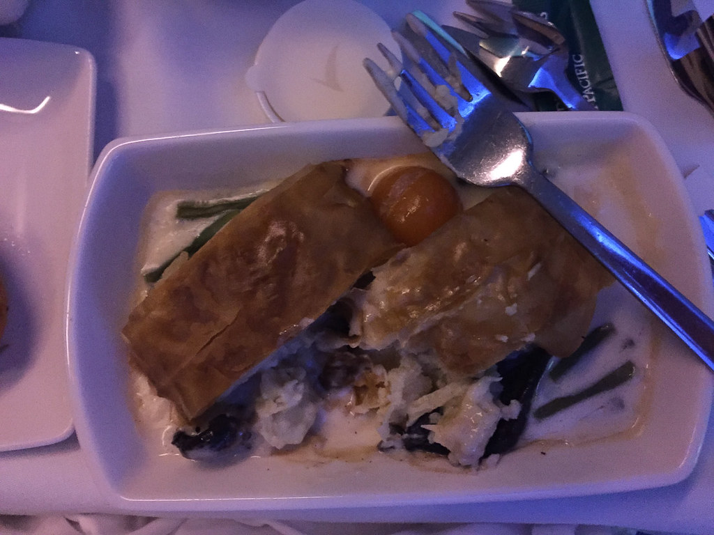 Main dish in Cathay Pacific Business Class