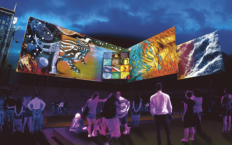 Chatswood WildLight - The Bio-Kinetic City by Electric Canvas