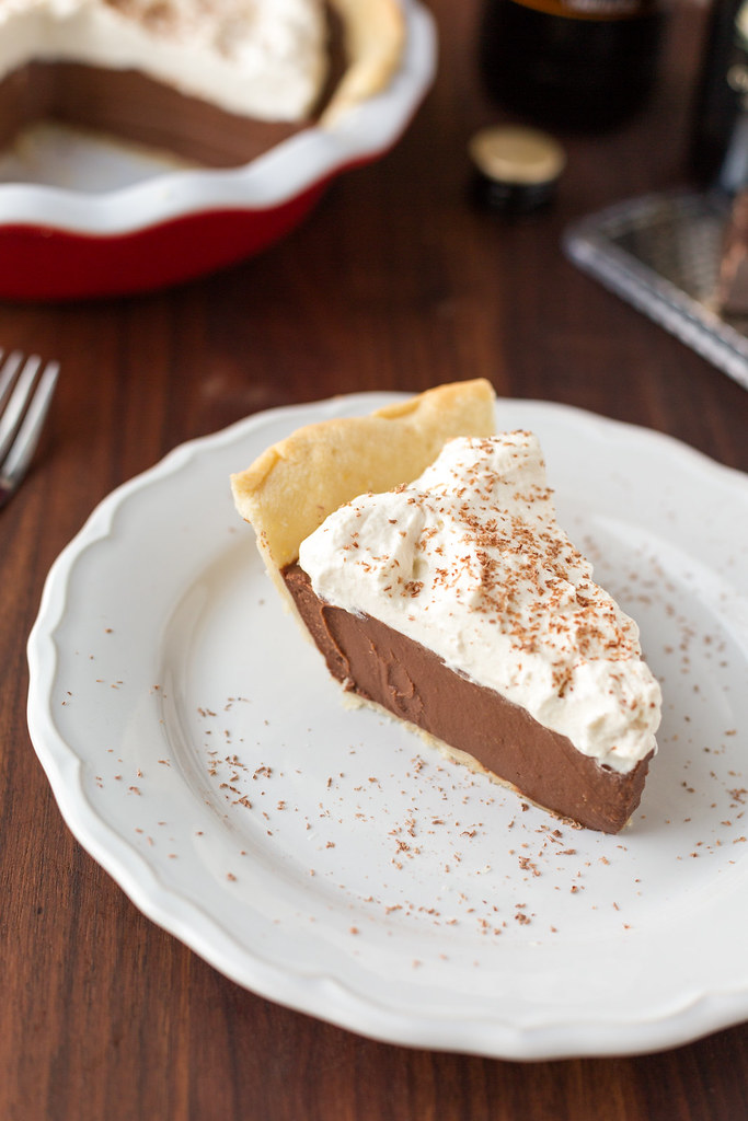 Chocolate Stout Cream Pie sliced