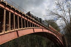 Steam locomotive Bradley Manor on Victoria Bridge.