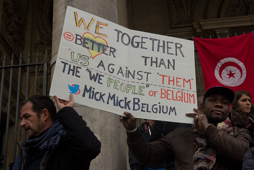 Brussels 23 March 2016 - Gathering at the Bourse