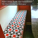 Redress Raleigh's banquette cushion in my design 'UK Mod Circular red and gray' by Su_G