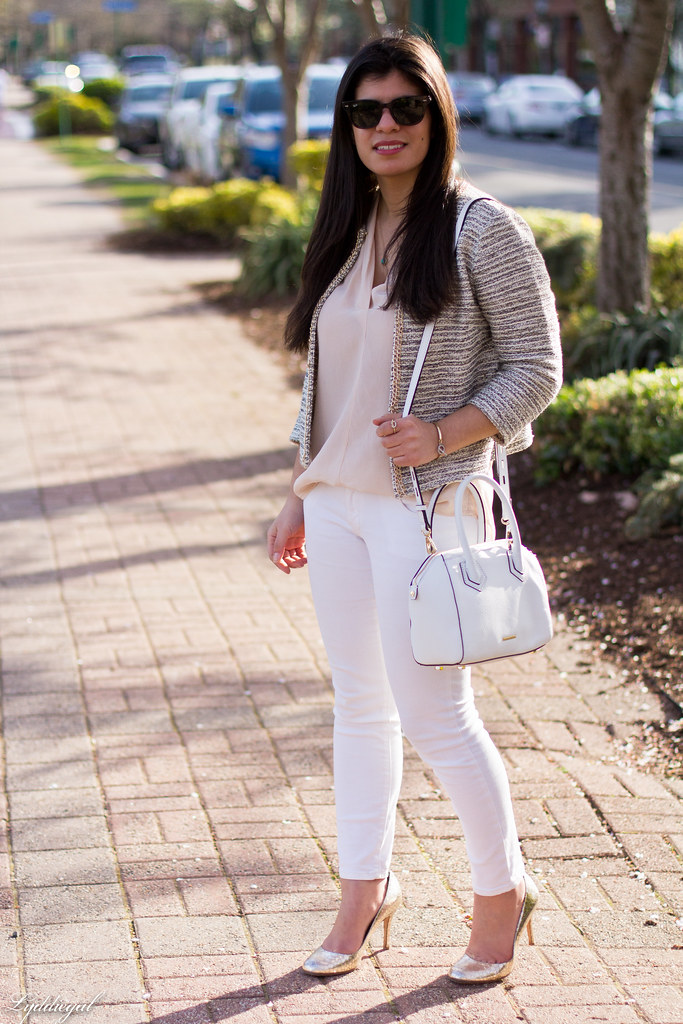 silk blouse, jacket, white jeans, silver pumps-8.jpg