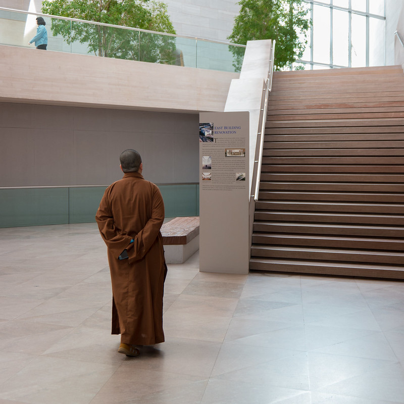 Monk at the National Gallery of Art