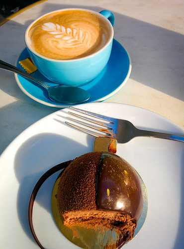 A Flat White and a French Dessert at La Renaissance