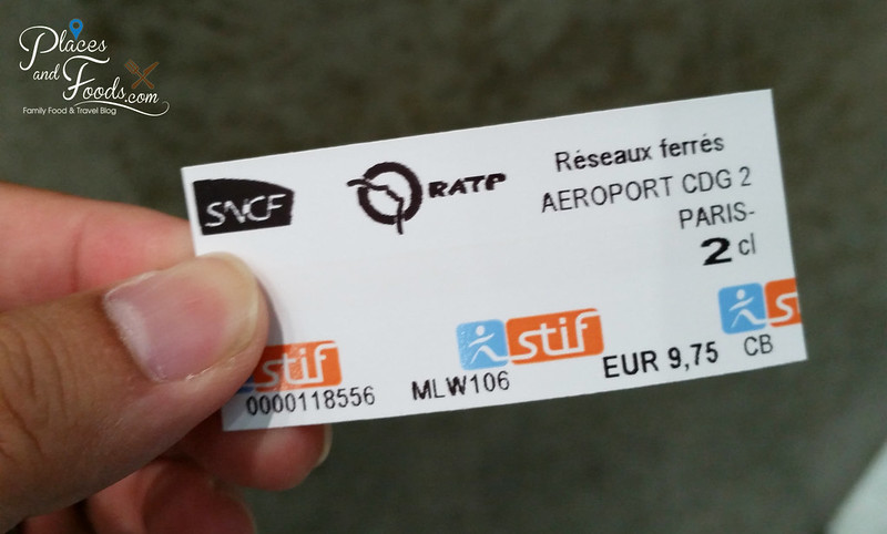 paris cdg airport train ticket