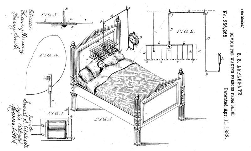 Samuel Applegate 1882 patent drawing