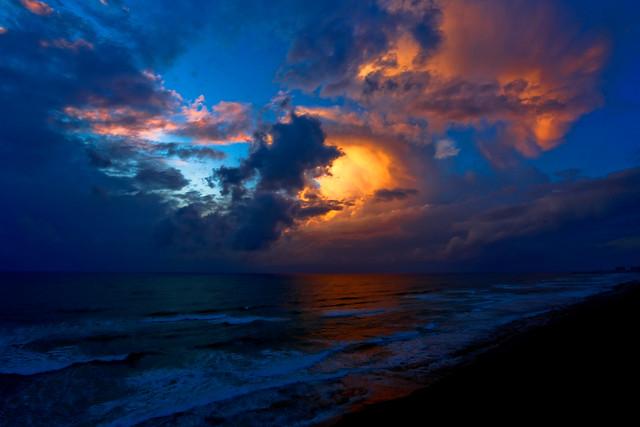 Stormy Sunset - Tel-Aviv beach