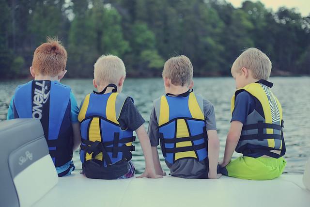 buddies on a boat