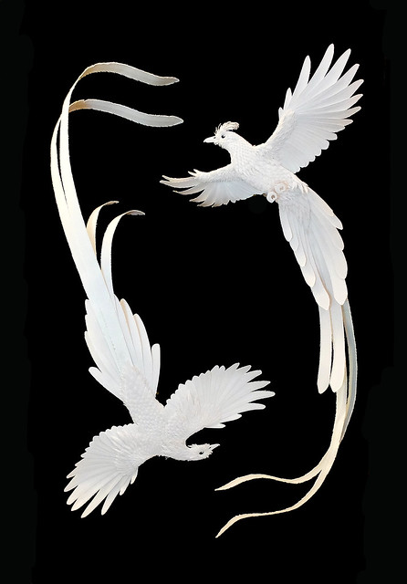Paper and Wood Bird Sculptures for Ralph Lauren