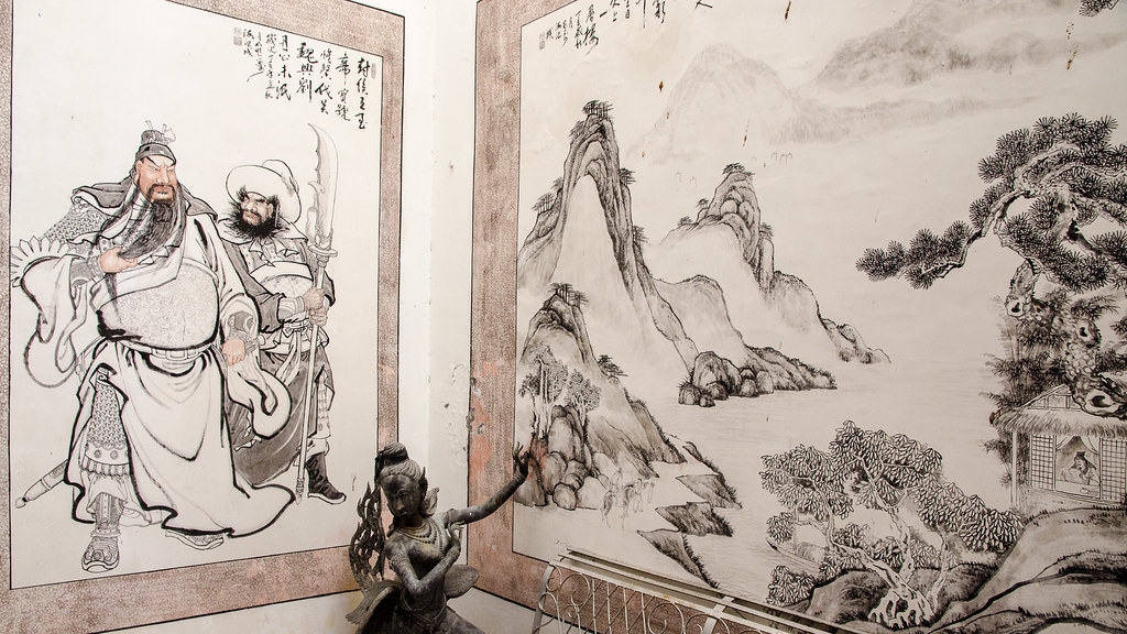 Chinese painting and stone sculpture
